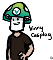 artist:ressq cosplay streamer:vinny vineshroom // 443x500 // 67.5KB