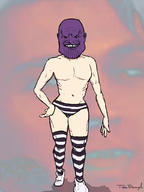 Thanos artist:toe_dough_keteh game:Maple_Story_2 streamer:vinny striped_pantsu // 768x1024 // 409.8KB