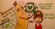 artist:spoopybananel banana streamer:vinny traditional vineshroom // 2396x1284 // 791.4KB