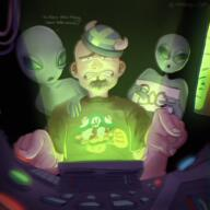 alien artist:madcap_rat game:signal_simulator streamer:joel vargshroom // 1500x1500 // 3.6MB