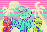 aesthetics artist:anniemae game:earthbound jeff jeff_andonuts ness paula psychedelic streamer:vinny vaporwave // 1598x1091 // 2.4MB