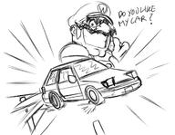 GAS_GAS_GAS artist:blockmechanics initial_d mario_party streamer:joel wario // 1530x1184 // 726.2KB