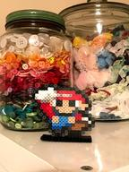 Smallrio artist:PixelAiden game:Mario_and_Luigi_Superstar_Saga mario perler_beads streamer:vinny // 710x946 // 1.3MB