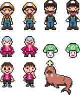 artist:idioticmuffin game:mother_3 game:tomodachi_life he_thicc pixel_art pretzel sponge streamer:vinny villager vineshroom walrus // 744x888 // 11.5KB