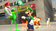 banana brb donkey_kong fire game:garry's_mod goat kermit_the_frog luigi mario pizza the_muppets vineshroom // 1600x900 // 2.2MB