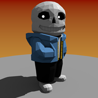 3d artist:carecoaxer game:undertale sans streamer:joel // 1080x1080 // 451.0KB