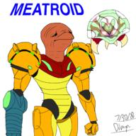 Game:Metroid artist:The_Dolphyn meat metroid samus streamer:vinny // 1600x1600 // 547.5KB