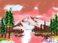 artist:medlihomura bob_ross game:mario_artist_paint_studio ms_paint streamer:joel // 300x224 // 114.2KB