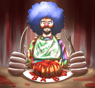 artist:otakuap blood_bagel brb clown red_vox streamer:vinny // 1080x1001 // 936.9KB