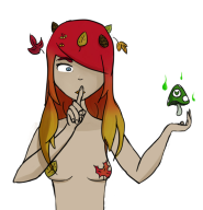 artist:moeika red_hair vineshroom // 730x754 // 121.9KB