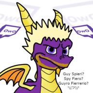 artist:slessmanman game:Spyro guy_fieri streamer:vinny // 512x512 // 184.9KB