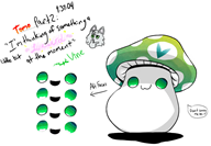 :3 artist:notebook cute game:tomodachi_life maplestory mushroom quote streamer:vinny vinesauce vineshroom // 948x658 // 299.1KB