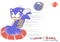 artist:kalechippu game:ocarina_of_time game:the_legend_of_sanic sonic // 913x650 // 225.8KB