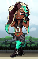 artist:Kasumi_draws game:splatoon_2 marina streamer:vinny // 500x770 // 327.5KB