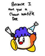 artist:Tinyduck clown streamer:vinny waddle_dee // 408x509 // 68.1KB