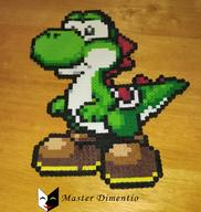 Character:Yoshi Tag:Perler_Beads artist:masterdimentio game:super_mario_world streamer:vinny // 643x678 // 485.1KB