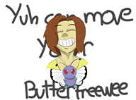 artist:emmalovania butterfree game:pokemon streamer:vinny // 1350x1004 // 267.6KB