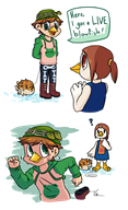 animal_crossing animal_crossing_new_leaf artist:silverpie game:animal_crossing medli streamer:vinny // 1100x1800 // 659.0KB