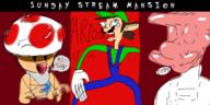 artist:GLiTCH-R game:Luigi's_Mansion luigi streamer:vinny toad // 1800x900 // 1.0MB