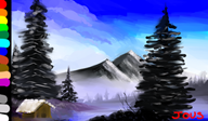 artist:averynicepizza bob_ross painting streamer:joel // 1444x849 // 1.0MB