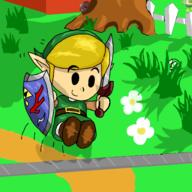 Character:Link artist:Raynimations_99 game:link's_awakening streamer:vinny // 2048x2048 // 1.1MB