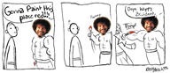 artist:battybeck bob_ross comic game:hard_time streamer:joel // 612x265 // 112.6KB
