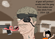 artist:brendanscobal game:metal_gear_solid_4 goku gun snake streamer:vinny tongue // 800x568 // 90.7KB