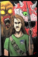 cacodemon doomguy game:doom streamer:joel vinesauce // 1000x1500 // 1.5MB