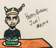 artist:hannahistired birthday streamer:joel // 750x647 // 377.2KB