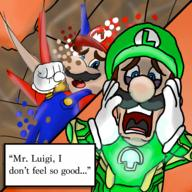 artist:Indy_Film_Productions corruptions game:super_mario_sunshine infinity_war luigi mario streamer:vinny // 1920x1920 // 3.0MB