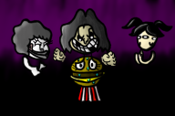 artist:sergeant_16-bit clown_lady game:tomodachi_life hamburger streamer:vinny two_faced witch // 2500x1666 // 1.2MB