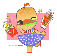 artist:nicolas-px game:tomodachi_life hamburger // 867x851 // 285.4KB