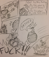 artist:yoplin bob-omb comic game:mario_kart_8 paper_drawing streamer:vinny // 1171x1337 // 390.2KB