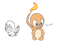 artist:dogeburger charmander game:pokedraw pokemon streamer:joel // 1237x906 // 114.4KB