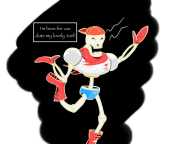 artist:sauldlc bone game:undertale papyrus streamer:joel // 1280x960 // 408.6KB
