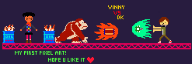 battle donkey_kong pixel_art streamer:vinny tomodachi two_faced // 247x83 // 2.5KB