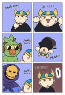 artist:barbilou comic gif grookey skeletor streamer:joel // 1200x1750 // 500.5KB