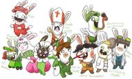 alpaca artist:Pansear cling_on game:miitopia gordon_ramsay hotel_mario imp_vinny jahn rabbid rabbids scoot speed_luigi sponge streamer:vinny two_faced vinesauce // 2000x1210 // 1.4MB