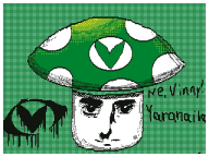 artist:reploid_dynamo background flipnote_studio_3d green streamer:vinny vinesauce vineshroom yaranaika // 320x240 // 127.5KB