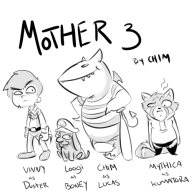 artist:chimeracorp artist:mythi chimeracorp game:mother_3 luigi streamer:vinny // 500x500 // 124.8KB