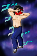 apple_dave artist:crymsonwrench jjba jojo_pose streamer:vinny // 800x1200 // 1.9MB