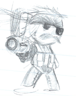 artist:jaumsche game:little_big_planet game:little_big_planet_2 mgs punished_snake sackboy streamer:vinny traditional_art // 462x580 // 300.2KB
