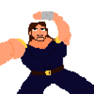 animated artist:averagejoeshinn fist_of_the_north_star kenshiro mugen pixel_art streamer:joel // 1000x1000 // 30.1KB