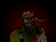 artist:gnomeking64 big_boss kenny metal_gear_solid streamer:vinny the_walking_dead zombie // 800x600 // 215.3KB