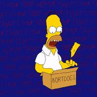 artist:neongrass bart_simpson corndog game:virtual_bart homer_simpson streamer:vinny the_simpsons // 1024x1024 // 212.5KB