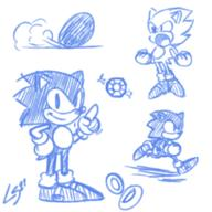 artist:linkstar21 sketches sonic streamer:imakuni // 700x700 // 298.9KB