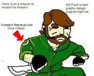 artist:panamanianbootyscout foreskin foxhound metalgearsolid mgs mspaint streamer:vinny // 646x525 // 29.8KB