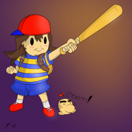 game:earthbound mother ness rpg snes streamer:joel vinesauce // 1500x1500 // 594.8KB