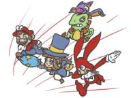 artist:KITSU game:a_hat_in_time game:super_mario_odyssey game:yo!_noid_2 game:yooka-laylee hat_kid mario noid streamer:vinny // 800x600 // 365.3KB