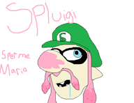 artist:lamango game:splatoon luigi splet streamer:vinny // 587x454 // 15.8KB